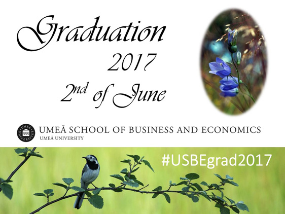 Umeå School of Business and Economics Graduation Ceremony 2017