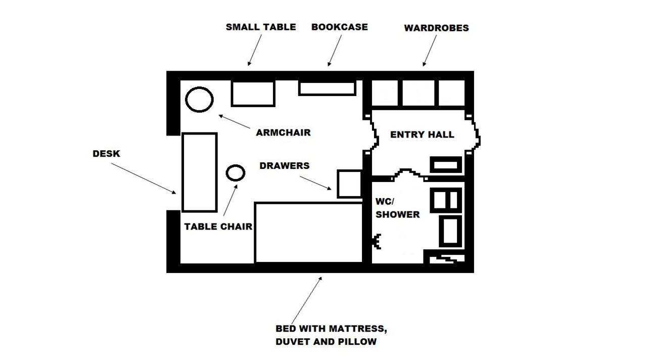 Layout example of a corridor room