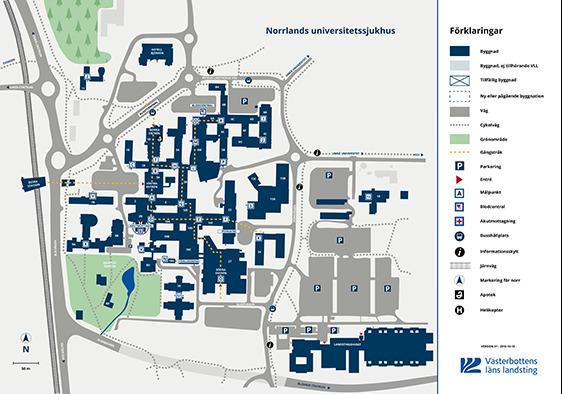 karta nus Karta över Norrlands universitetssjukhus – NUS karta nus