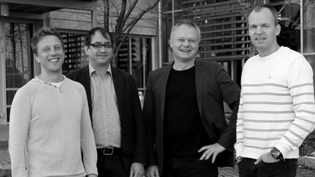Founders of Algoryx Simulations, Martin Servin, Claude Lacoursière, Kenneth Bodin and Anders Backman.