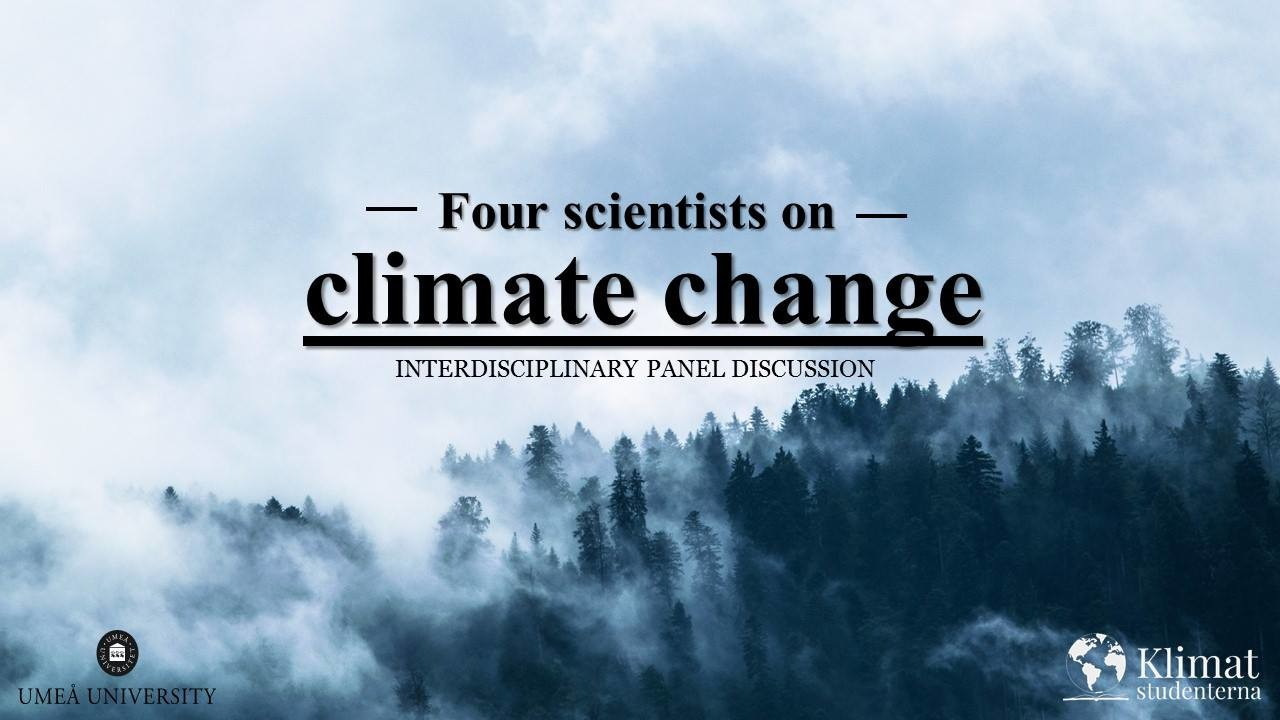 Four scientist on climate change.