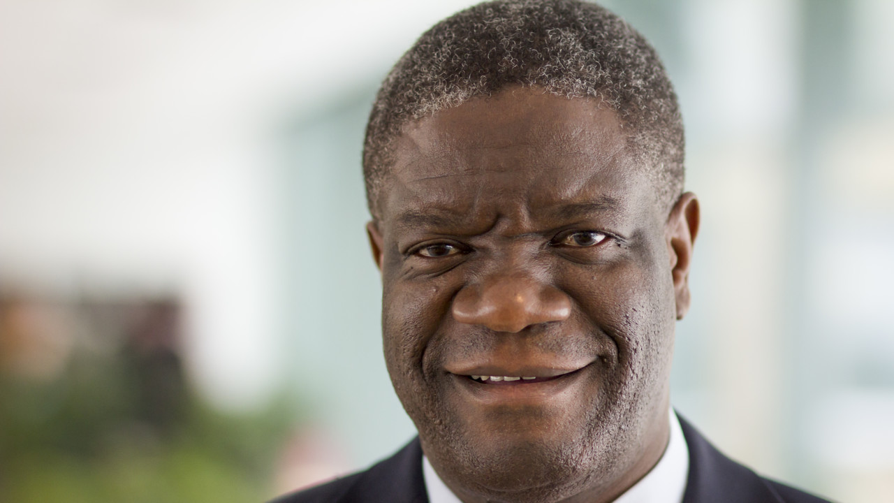 Portrait photo of Dr Denis Mukwege