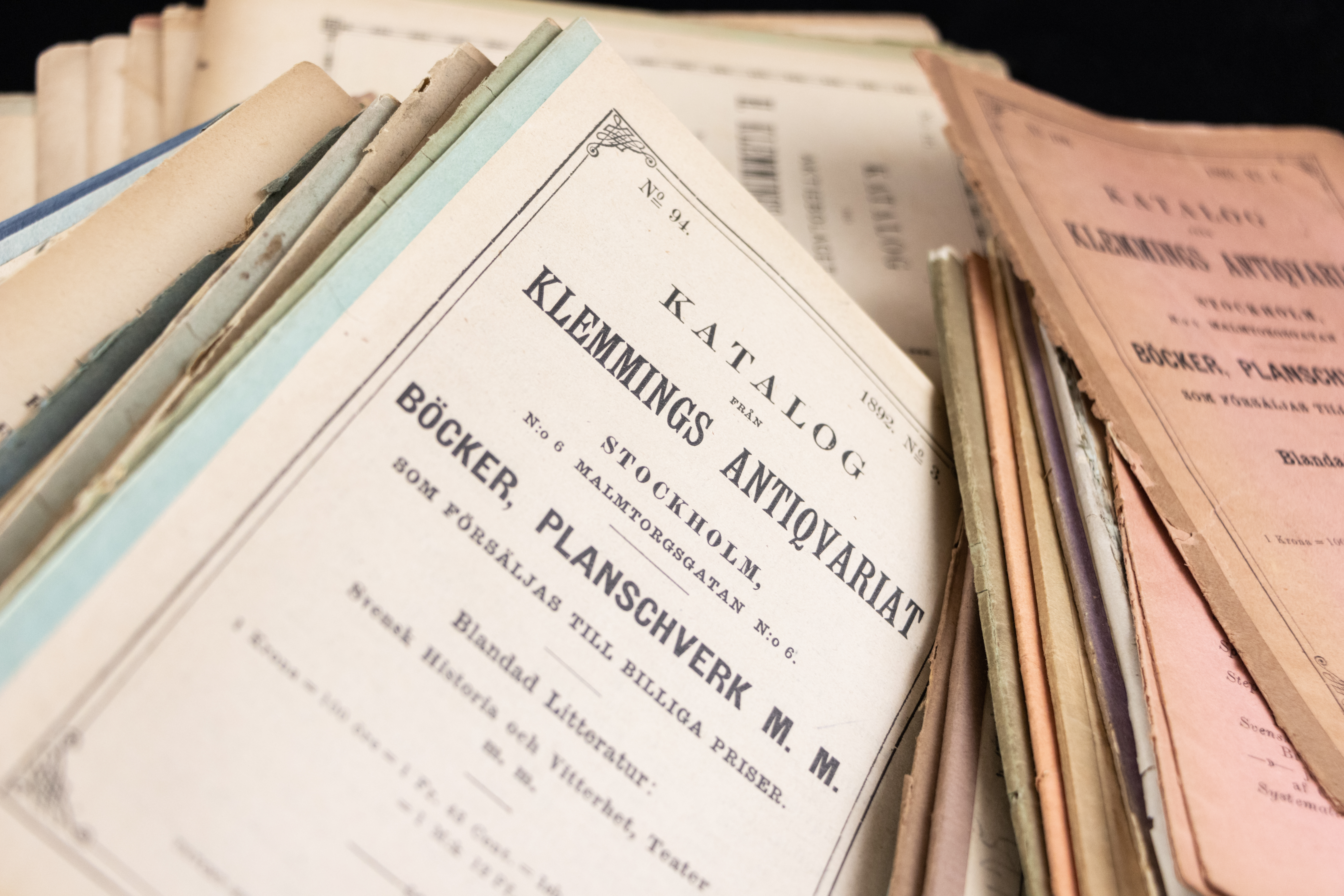 The Swedish Antiquarian Booksellers' Association's Catalogue Collection