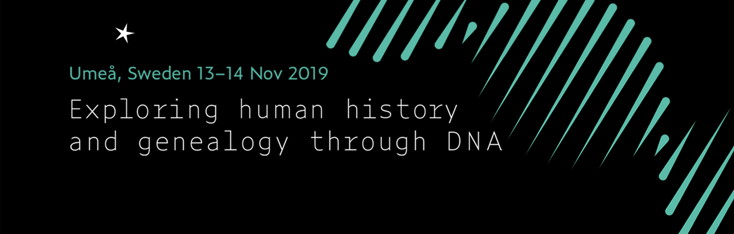 poster for conference on exploring human history and genealogy through DNA
